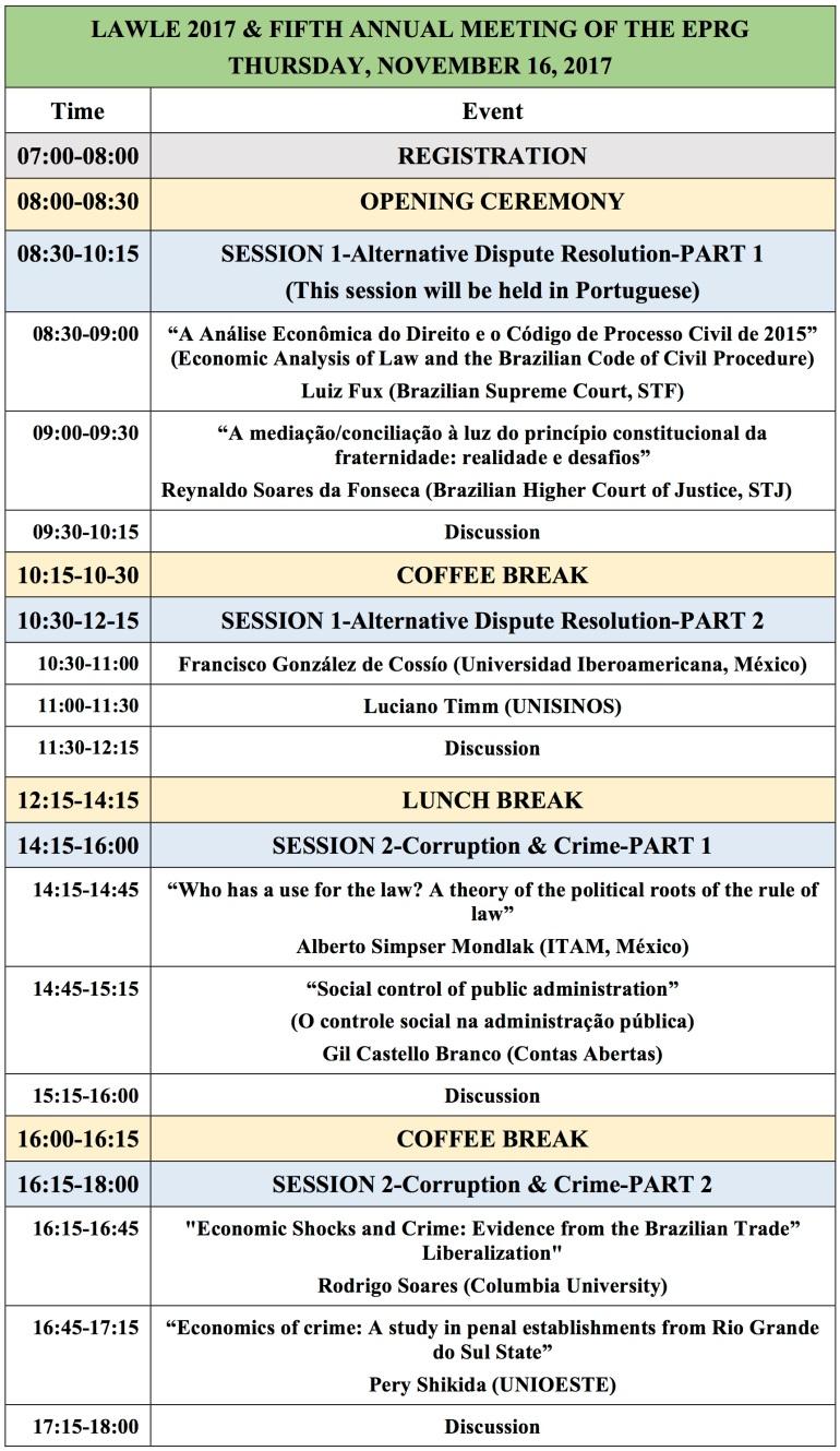 LAWLE 2017 Program 1A